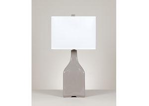 Gray Quilla Ceramic Table Lamp (Set of 2)