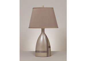 Beige Brown Mia Ceramic Table Lamp (Set of 2)