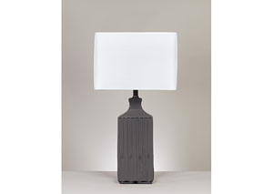 Patience Gray Ceramic Table Lamp (Set of 2)