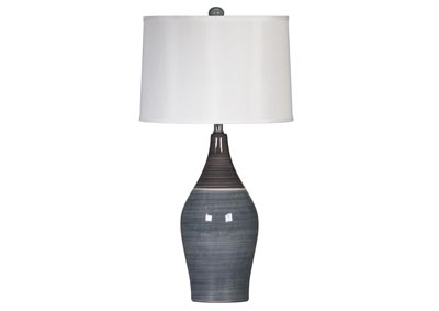 Multi Gray Niobe Ceramic Table Lamp (Set of 2),Signature Design by Ashley