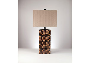Brown Helki Ceramic Table Lamp (Set of 2)