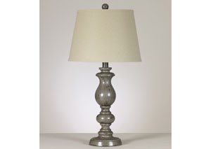 Silvine Distressed Gray Table Lamp (Set of 2),Signature Design by Ashley