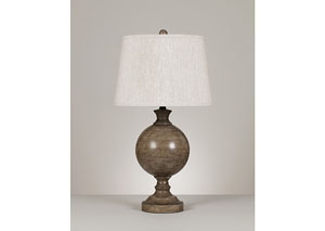 Washed Brown Quenby Metal Table Lamp (Set of 2)