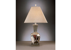 Diallo Brown & White Poly Table Lamp (Set of 2)