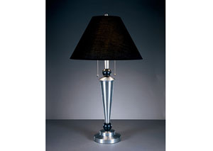 Nickel/Black Cynthia Metal Table Lamp (Set of 2)