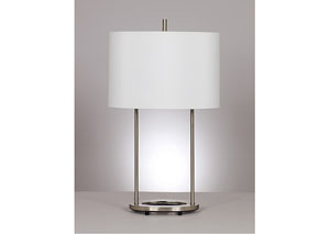 Nickel Maisie Metal Table Lamp (Set of 2)