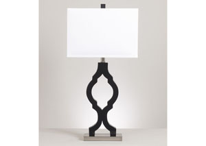 Rosetta Black/Silver Poly Table Lamp (Set of 2)