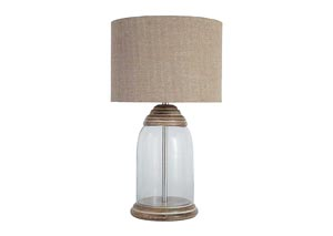 Shanece Transparent Glass Table Lamp
