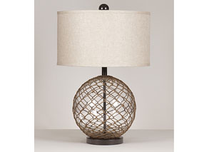 Clear/Brown Regina Glass Table Lamp (Set of 2)