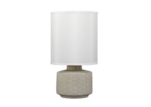 Gray Ceramic Table Lamp
