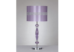 Purple Nyssa Metal Table Lamp