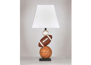 Brown/Orange Nyx Poly Table Lamp