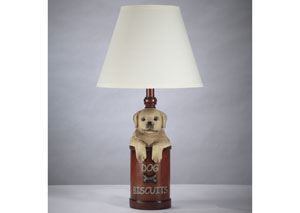 Sayer Light Golden/Antique Red Table Lamp