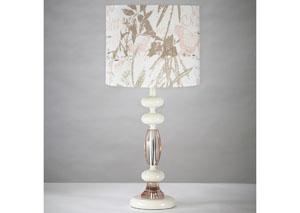 Serissa Off-White & Pink Table Lamp
