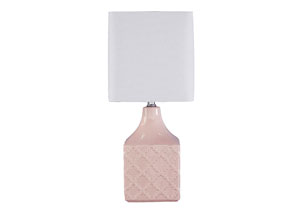 Simmone Pink Ceramic Table Lamp