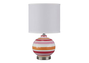 Sirene Pink/Orange Ceramic Table Lamp