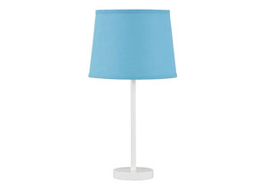 Shonie Teal/White Metal Table Lamp