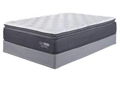Limited Edition Pillowtop White Queen Mattress w/Foundation,Sierra Sleep