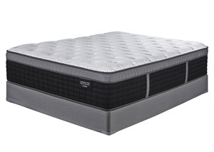 Manhattan Design District Firm Euro Top Queen Mattress w/ Foundation,Sierra Sleep