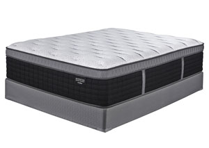 Manhattan Design District Plush Euro Top Queen Mattress w/ Foundation,Sierra Sleep