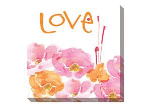 Jachai Pink/Orange/White Wall Art