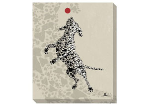 Berniss Tan/Black/Red Wall Art