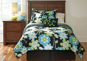 Sweetie Blue Twin Top of Bed Set
