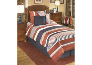Manning Stripe Twin Top of Bed Set