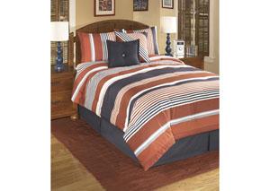 Manning Stripe Full Top of Bed Set