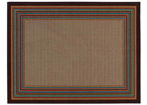 Border Multi Medium Rug