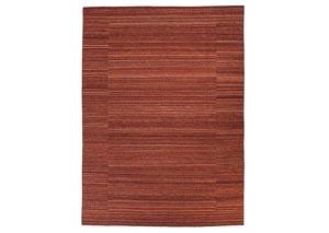 Flatweave Brick Red Medium Rug