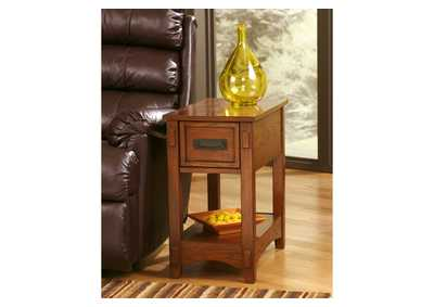 Brown Chair Side End Table,48 Hour Quick Ship