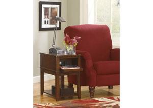Dark Brown Chair Side End Table
