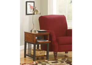 Dark Burnished Brown Chair Side End Table