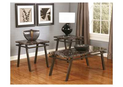 Paintsville Occasional Table Set (Cocktail & 2 Ends),48 Hour Quick Ship
