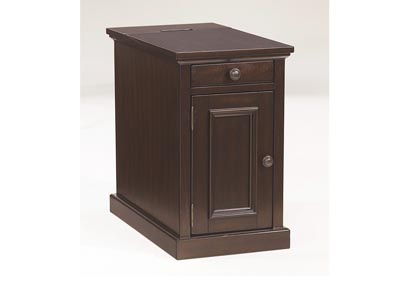 Sable Stain Finish Power Chairside End Table,Signature Design by Ashley