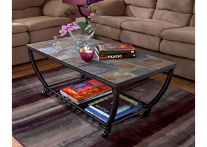 Antigo Rectangular Cocktail Table w/ Casters,Signature Design by Ashley