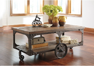 Rustic Storage Cocktail Table,ABF Signature Design by Ashley