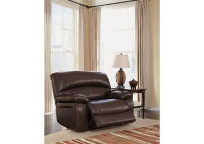 Damacio Dark Brown Zero Wall Wide Seat Recliner,Signature Design by Ashley