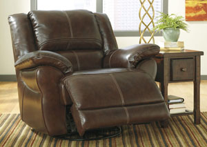 Lenoris Coffee Swivel Rocker Recliner,Signature Design by Ashley