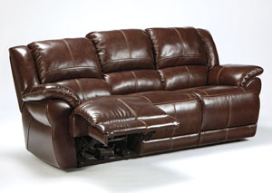 Lenoris Coffee Reclining Sofa,Signature Design by Ashley
