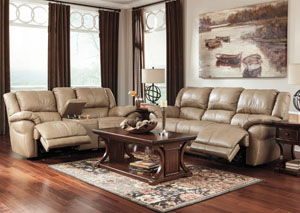 Lenoris Caramel Reclining Sofa & Loveseat,Signature Design by Ashley