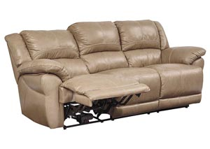 Lenoris Caramel Reclining Sofa,Signature Design by Ashley