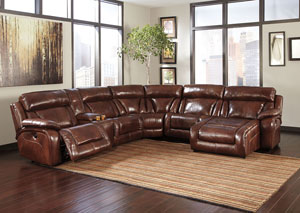 Elemen Harness Reclining Power Sectional w/ Console,Signature Design by Ashley