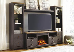 Maxington Two-tone Entertainment Center w/ Fireplace Insert,Signature Design by Ashley