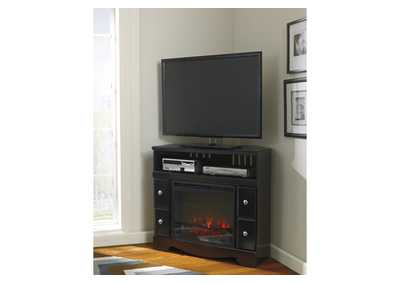 Shay Corner TV Stand w/ LED Fireplace