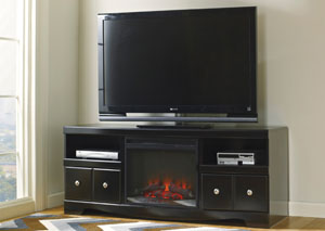 Shay Large TV Stand w/ LED Fireplace