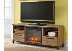 Dexifield Large TV Stand w/ LED Fireplace Insert