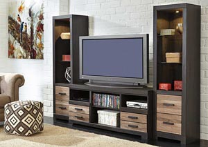 Harlinton Large TV Stand w/ Piers
