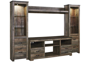 Trinell Brown Entertainment Center w/Fireplace Option